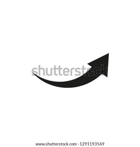 Arrow pointer icon vector flat trendy