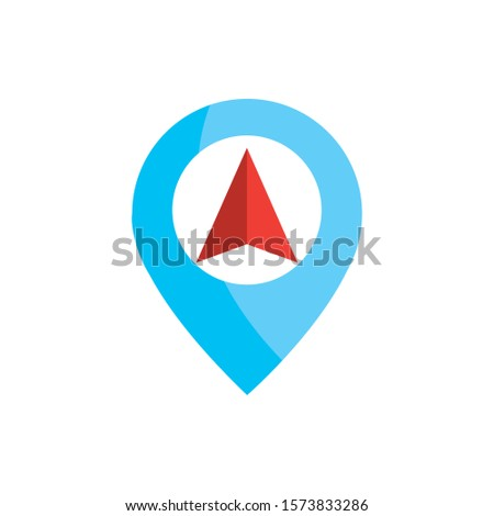 arrow pointer location pointer gps map and navigation vector illustration