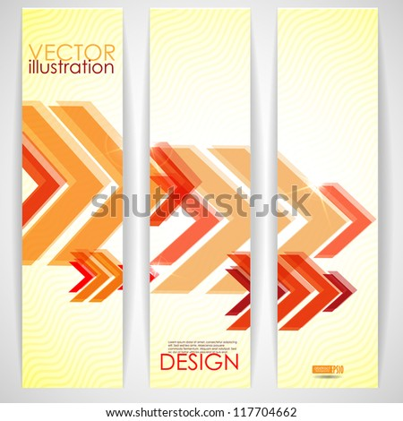 Arrow red background with place for your text. Vector illustration. Eps 10.