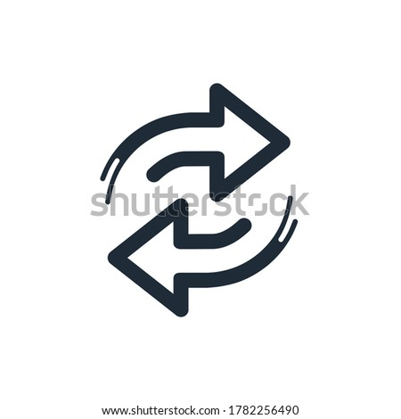 Arrow replace . Vector linear icon isolated on white background. ストックフォト ©