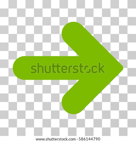 Arrow Right vector pictograph. Illustration style is flat iconic eco green symbol on a transparent background.