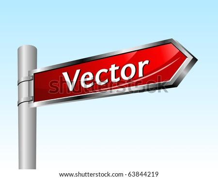 Arrow road sign. Vector illustration.