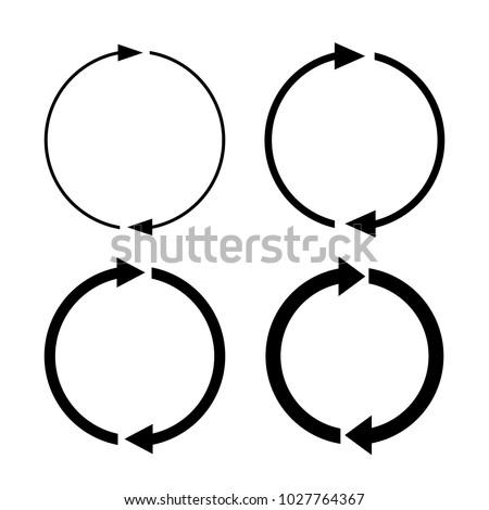 Arrow rotation vector icon set illustration isolated on white background
