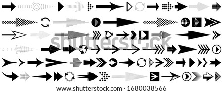 Arrow set. Different black directional icons, vector illustration collection for web design, mobile apps, interface and other design.
