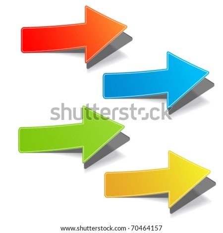 Arrow set vector for design