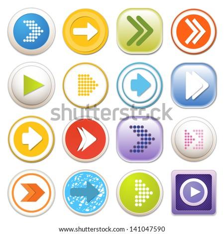 Arrow sign icon set. Eps 10 #141047590