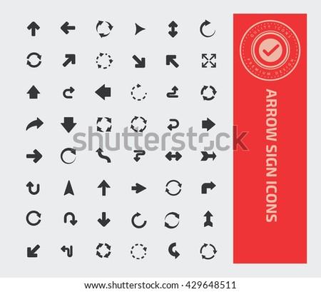 Arrow sign icon set,vector