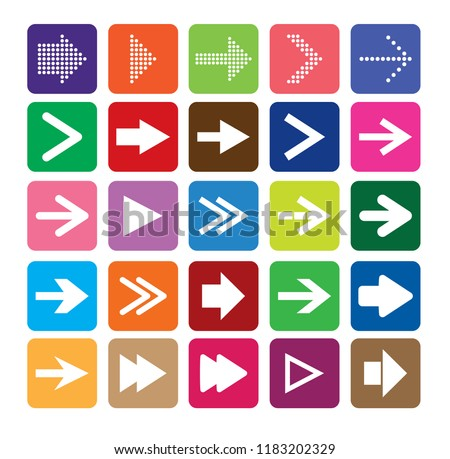 Arrow sign icon set. Vector illustration web design.