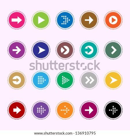 Arrow sign icons set 5