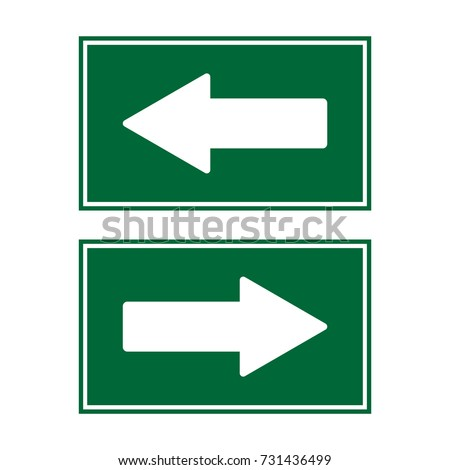 arrow sign left right isolated vector