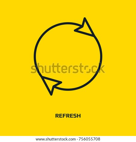 Arrow sign refresh icon rotation loop pictogram. Reload signs, sync symbol, arrow icons, update icon