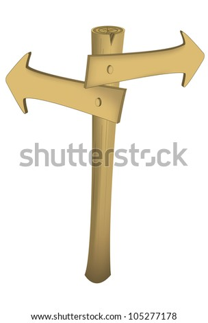 arrow sign with two ways