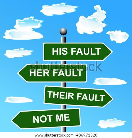 Arrow signs, not my fault shifting, blame, vector illustration Сток-фото ©