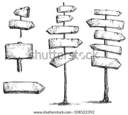 arrow signs vector drawing