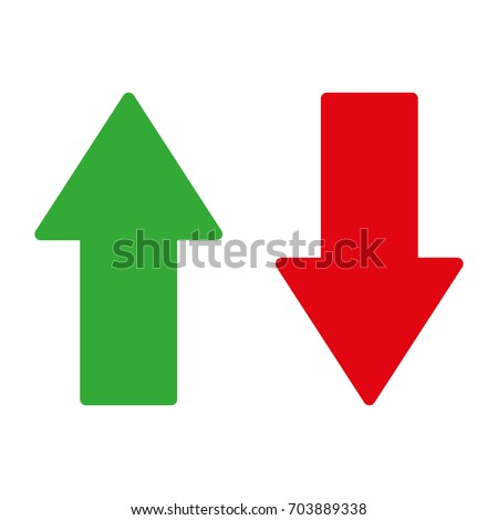 Arrow up and down – stock vector