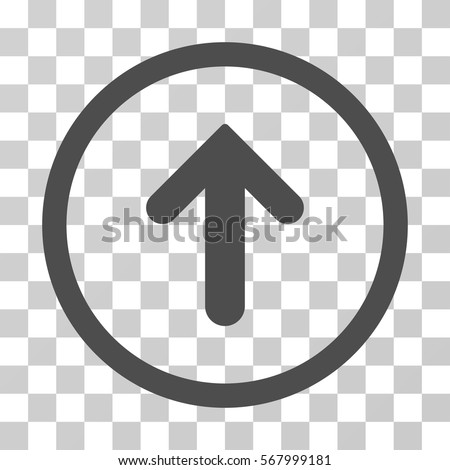 Arrow Up rounded icon. Vector illustration style is flat iconic symbol inside a circle, gray color, transparent background. Designed for web and software interfaces.