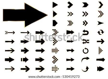 Arrow vector black curve line up 3d button icon set interface symbol for app, web and music digital illustration design. Application isolated flat digital sign collection on white background