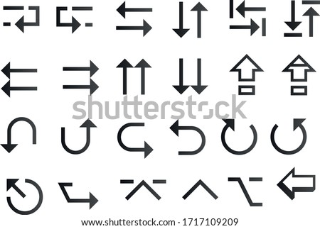 Arrow vector collection. vector design elements set. Arrows big black set icons. isolated on white background.