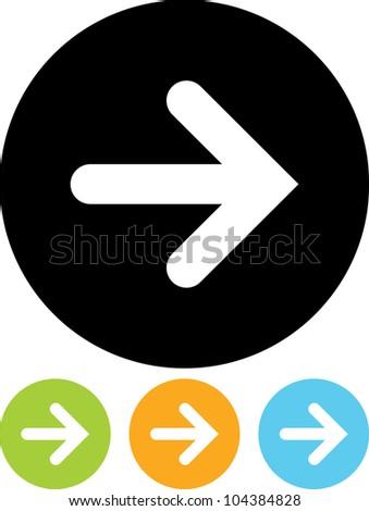 Arrow - Vector icon isolated