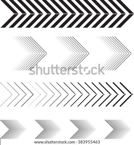 arrow vector linearrow set