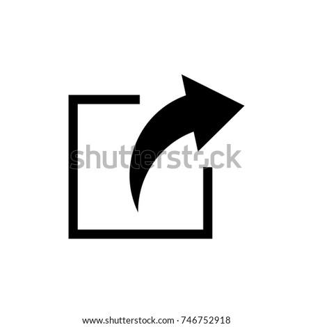 arrow vector logo. share logo
