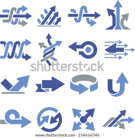 Arrows and directional pointers icons