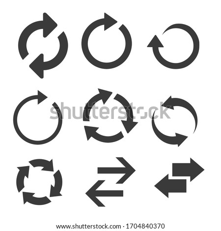 Arrows big set icons vector collection. Modern simple arrows. Vector illustration