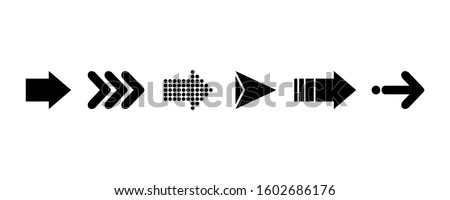 Arrows. Black vector arrows. Set icon arrow for concept design. doodle abstract isolated on white background . vector illustration.