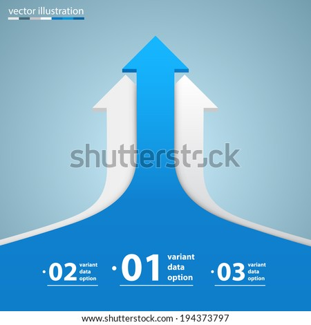 Arrows business growth, Arrow up numbers, Vector infographic illustration