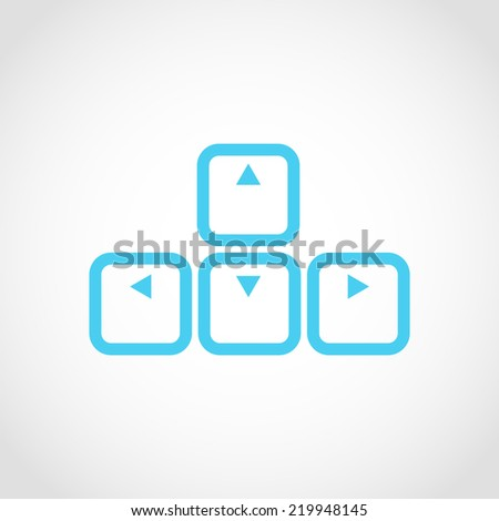 Arrows buttons keyboard Icon Isolated on White Background