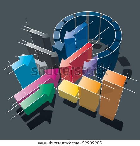 Arrows Chart. Business Strategies, Attacks & Defense. Vector Illustration