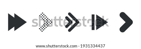 Arrows collection. Modern graphic direction signs computer screen arrows vector set