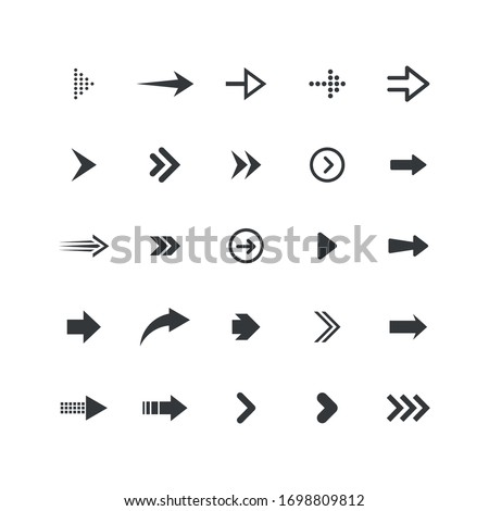 Arrows collection. Set of arrows. Vector illustration.