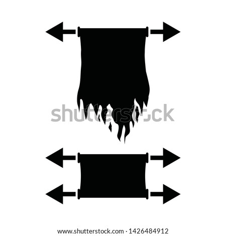 Arrows flag vector collection black. Collection arrow silhouette on white background