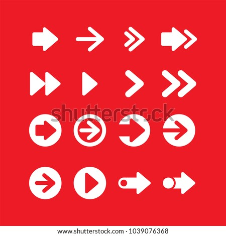 Arrows flat vector icons set #1039076368