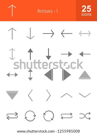 Arrows Grey Icons