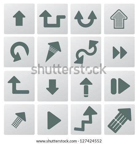 Arrows icon set,vector