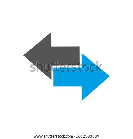arrows icon two color arrows