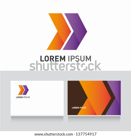 arrows icon vector design elements with business card template editable