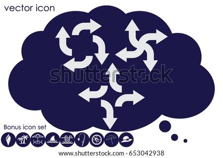arrows icon vector illustration.