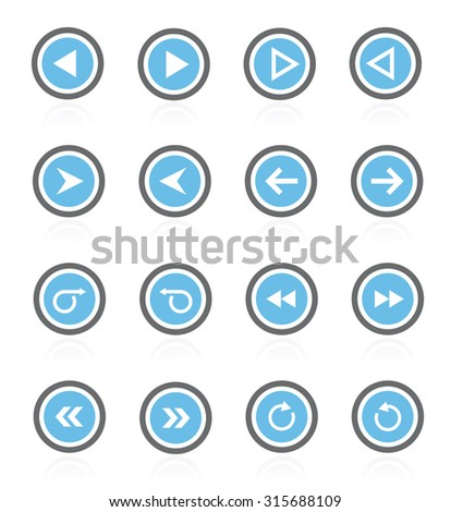 arrows icons (arrows icons set) easy to edit.
