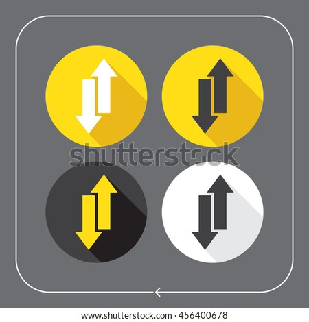Arrows icons. Double arrow up and down