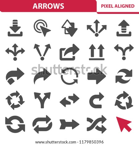 Arrows Icons. Professional, pixel perfect icons, EPS 10 format.