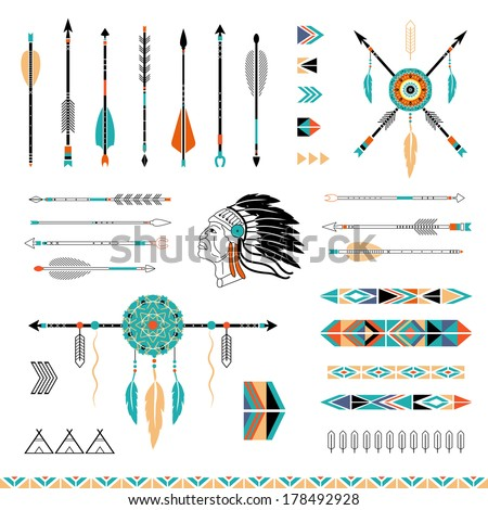 arrows  indian elements  aztec