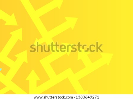Arrows point in different directions. The concept of problem solving. Vector illustration