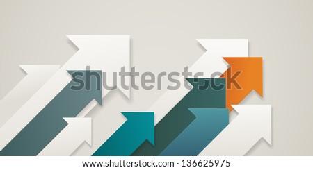 Arrows pointing upward, eps10 vector