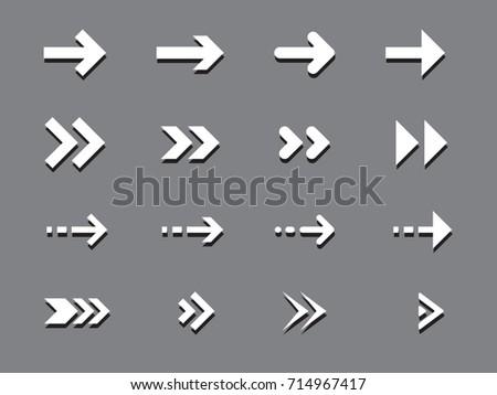 Arrows set #714967417