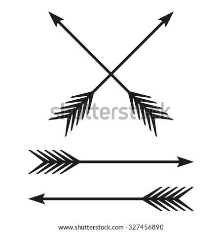 arrows set bow arrow isolated