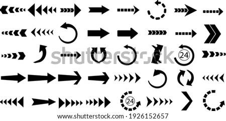 Arrows set of 40 black icons, Arrow vector collection, Cursor. Modern simple arrows