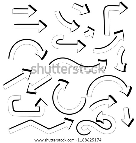 Arrows. Set of icons. Vector illustration isolated on white background #1188625174
